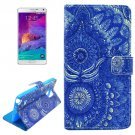 For Galaxy Note 4 Cross Printing Leather Case with Holder, Card Slots & Wallet