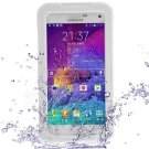 For Galaxy Note 4 White IP68 Waterproof Protective Case with Lanyard