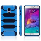 For Galaxy Note 4 Blue Tank Series PC + TPU Bumper Combination Case