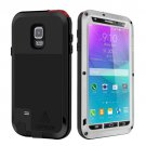 For Galaxy Note 4 Silver LOVE MEI Metal Waterproof Dustproof Shockproof Case