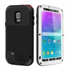For Galaxy Note 4 White LOVE MEI Metal Waterproof Dustproof Shockproof Case