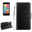 For Lumia 530 Black Litchi Flip Leather Case with Holder, Card Slots & Wallet