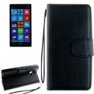 For Lumia 930 Black Litchi Flip Leather Case with Holder, Card Slots & Wallet