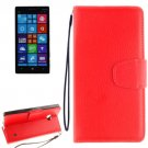 For Lumia 930 Red Litchi Flip Leather Case with Holder, Card Slots & Wallet