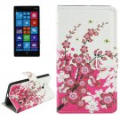 For Lumia 930 Blossom Pattern Leather Case with Holder, Card Slots & Wallet