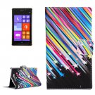 For Lumia 925 Stars Pattern Leather Case with Holder, Card Slots & Wallet