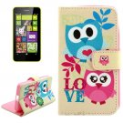 For Lumia 630 Cartoon Pattern Cross Leather Case with Holder & Card Slots