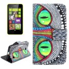 For Lumia 630 Owl Pattern Cross Leather Case with Holder & Card Slots