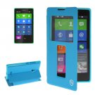 For Lumia XL Blue Flip Leather Case with Call Display ID & Holder