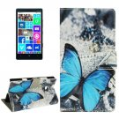 For Lumia 930 Butterfly Pattern Leather Case with Holder, Card Slots & Wallet