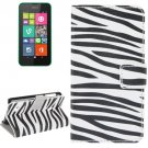 For Lumia 530 Zebra Pattern Leather Case with Holder, Card Slots & Wallet