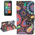 For Lumia 530 Abstract Pattern Leather Case with Holder, Card Slots & Wallet