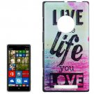 For Lumia 830 Live the Life Pattern Hard Case
