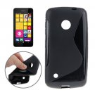For Lumia 530 Black S Line Anti-slip Frosted TPU Protective Case