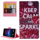 For HTC M10 SPARKLE Pattern Leather Case with Holder, Card Slots & Wallet