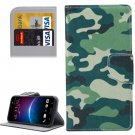 For HTC M10 Camouflage Pattern Leather Case with Holder, Card Slots & Wallet