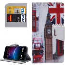 For HTC M10 Big Ben Pattern Leather Case with Holder, Card Slots & Wallet