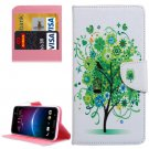 For HTC M10 Tree Pattern Leather Case with Holder, Card Slots & Wallet