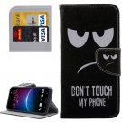 For HTC M10 Eyes Pattern Leather Case with Holder, Card Slots & Wallet