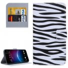 For HTC M10 Zebra Pattern Leather Case with Holder, Card Slots & Wallet