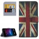 For HTC M10 UK Flag Pattern Leather Case with Holder, Card Slots & Wallet