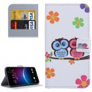 For HTC M10 Owl Pattern Leather Case with Holder, Card Slots & Wallet