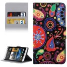 For HTC Desire 530 Acaleph Pattern Leather Case with Holder, Card Slots & Wallet