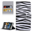 For HTC Desire 530 Zebra Pattern Leather Case with Holder, Card Slots & Wallet