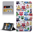 For HTC Desire 530 Cartoon Pattern Leather Case with Holder, Card Slots & Wallet