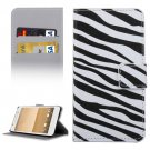 For HTC One A9 Zebra Pattern Leather Case with Holder, Card Slots & Wallet