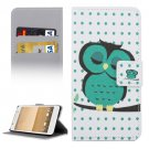 For HTC One A9 Owl Pattern Leather Case with Holder, Card Slots & Wallet