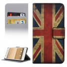 For HTC One A9 UK Flag Pattern Leather Case with Holder, Card Slots & Wallet