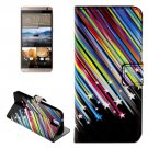 For HTC One E9+ Stars Pattern Leather Case with Holder, Card Slots & Wallet