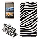 For HTC One E9+ Zebra Pattern Leather Case with Holder, Card Slots & Wallet