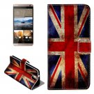 For HTC One E9+ UK Flag Pattern Leather Case with Holder, Card Slots & Wallet