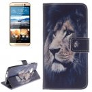 For HTC One M9 Lion 2 Pattern Leather Case with Holder, Card Slots & Wallet