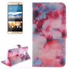 For HTC One M9 Clouds 2 Pattern Leather Case with Holder, Card Slots & Wallet