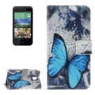 For HTC Desire 526G Butterfly Pattern Leather Case with Holder, Card Slots & Wallet