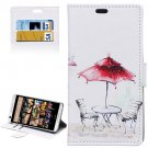 For HTC Desire 626 Kiosk Pattern Leather Case with Holder, Card Slots & Wallet