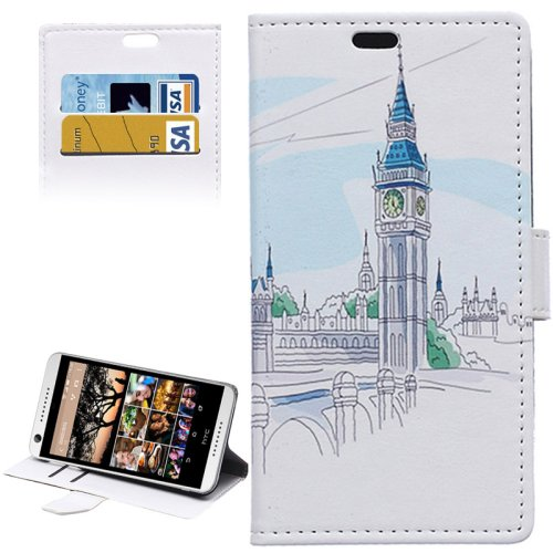 For HTC Desire 626 Big Ben Pattern Leather Case with Holder, Card Slots & Wallet