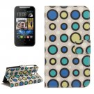 For HTC Desire 310 Dot Pattern Leather Case with Holder, Card Slots & Wallet