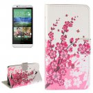 For HTC Desire 510 Blossom Pattern Leather Case with Holder, Card Slots & Wallet