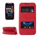 For HTC Desire 310 Red Oracle Leather Case with Call Display ID & Holder
