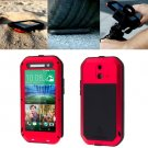 For HTC One E8 Red Love Mei Powerful Dustproof Shockproof Anti-slip Case