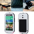 For HTC One E8 White Love Mei Powerful Dustproof Shockproof Anti-slip Case