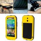 For HTC One E8 Yellow Love Mei Powerful Dustproof Shockproof Anti-slip Case