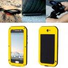 For HTC One A9 Yellow Love Mei Powerful Dustproof Shockproof Anti-slip Case