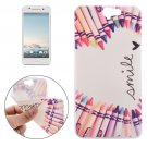 For HTC One A9 Ultrathin Colour Pen Pattern Soft TPU Protective Cover Case