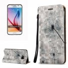 For Galaxy S6 3D Dandelion Pattern Leather Case with Holder, Card Slots & Lanyard