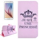 For Galaxy S6 Princess Pattern Leather Case with Holder, Card Slots & Wallet